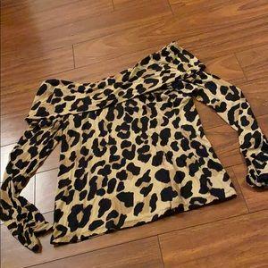 Leopard Off the Shoulders Top